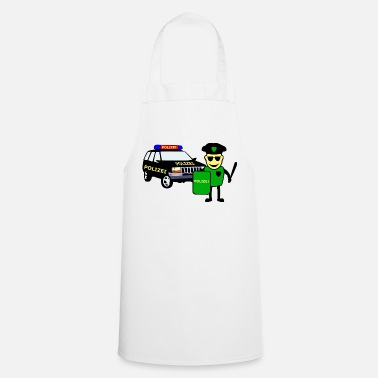 Police Officer Police Officer & Police Car - Cooking Apron