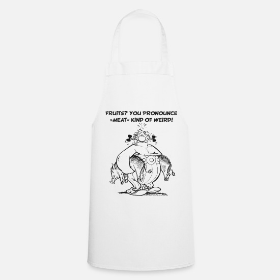 Funny Aprons - Asterix & Obelix - Fruits? - Apron white