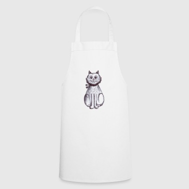 chaton assis - Tablier de cuisine