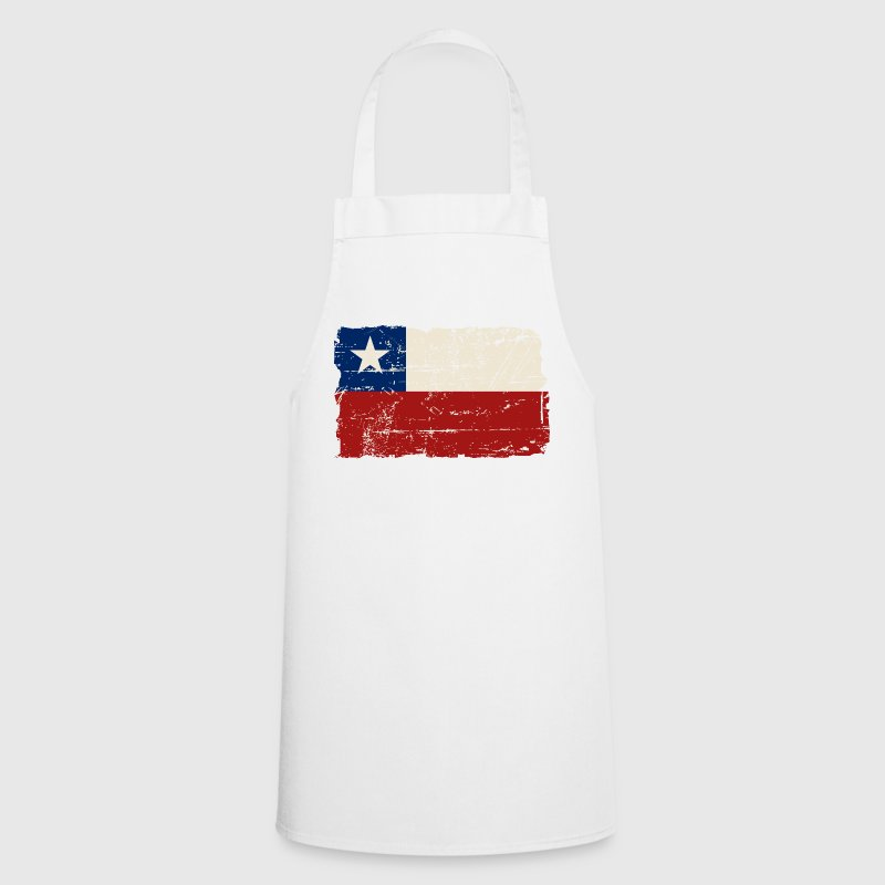 Chile Flag - Vintage Look - Delantal de cocina