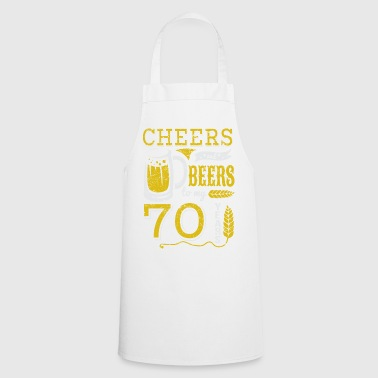 70th birthday / year: Cheers and Beers gift - Cooking Apron