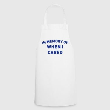 A REMINDER AS IT HAS ME ITCHING - Cooking Apron