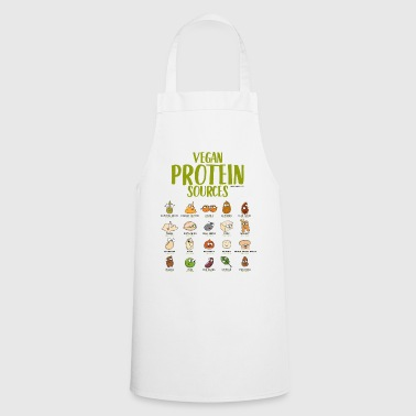 Vegan protein t-shirt for Vegans and Vegetarians - Cooking Apron