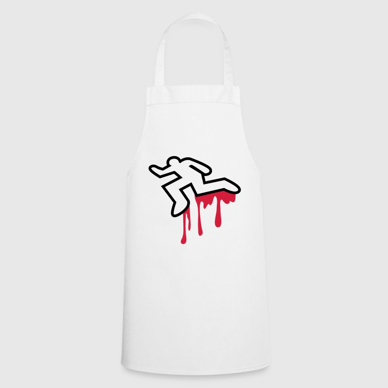 murder homicide coroner dead body outline - Cooking Apron