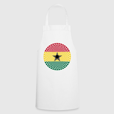GHANA Love HEART Mandala - Cooking Apron