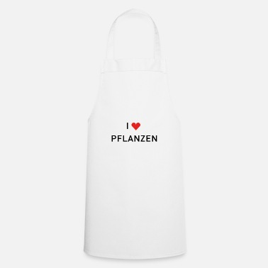 Plant Grounds I ❤️ plants - Cooking Apron
