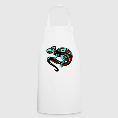 Tribal Chameleon animal reptiel kids gift idea - Cooking Apron