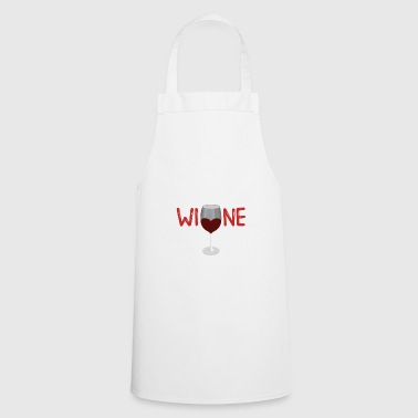 Could contain wine - red wine glass gift - Cooking Apron