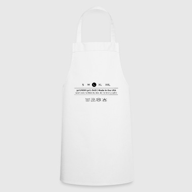 Wash Cold - Cooking Apron