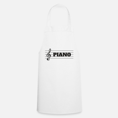 Key Button Piano key floor 2 - Cooking Apron