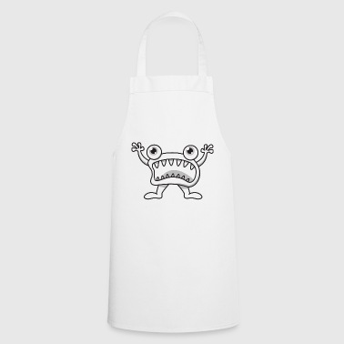 Monster halloween gift mouth teeth cartoon - Cooking Apron