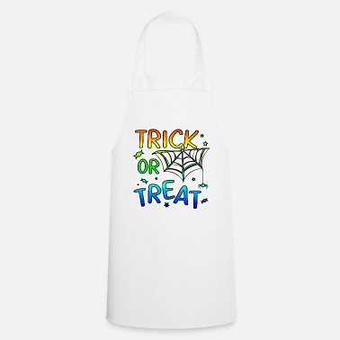 Trick Or Treat Trick or treat Halloween trick or treat - Cooking Apron