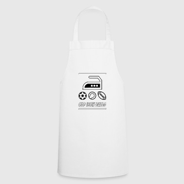Funny Visual Pun – Old Iron Balls - Cooking Apron