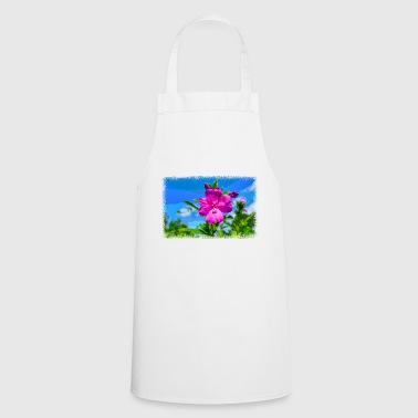 Pixel PIXEL FLOWER as pixel graphic - Cooking Apron