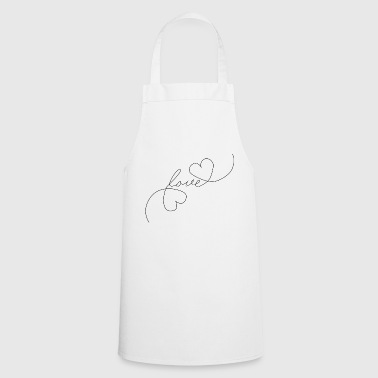 Heart Love - Oneline - Cooking Apron