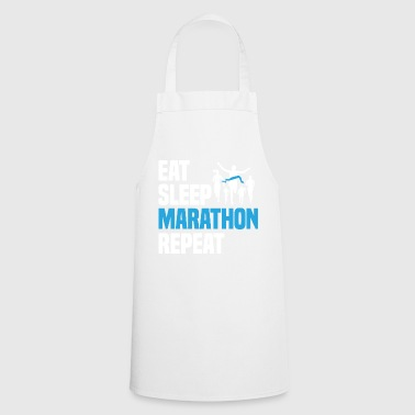 Funny Cool Humor Marathon Runner Shirt Gift - Cooking Apron