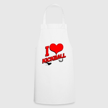 03 I i heart kickball - Cooking Apron