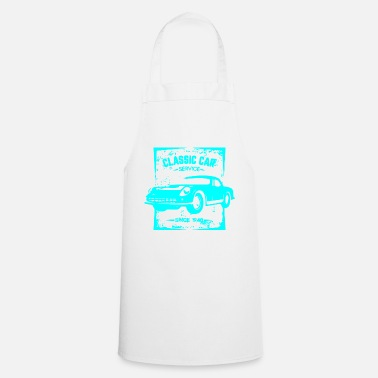 Streaker Classic Car in retro look 1- turquoise - Cooking Apron