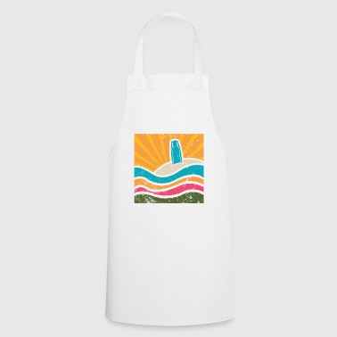 Surfboard in the sand - Cooking Apron