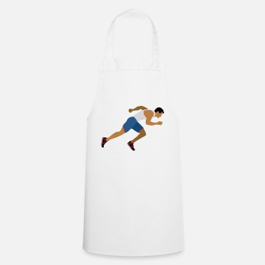 Sprinting Athlete (sprinting) - Cooking Apron
