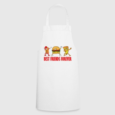 Takeaway Dabbing Dab Hot Dog Burger Pizza Fast Food Takeaway - Cooking Apron