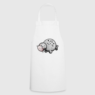 Cute manatee animal cartoon - Cooking Apron
