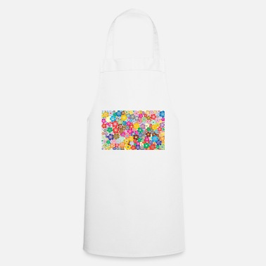 Colour Colourful flowers - Cooking Apron