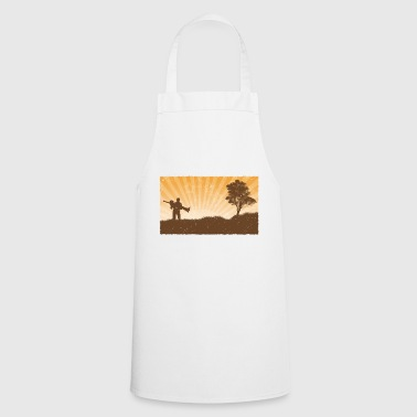 Grunge wallpaper style couple - Cooking Apron
