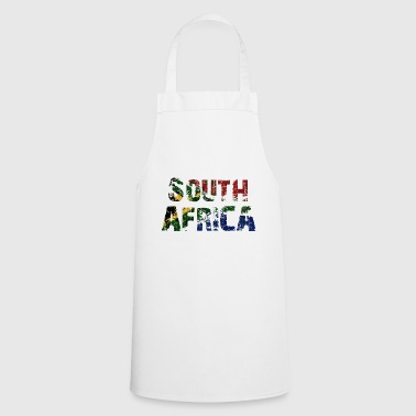 South Africa South Africa flag banner font - Cooking Apron