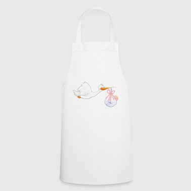 Stork with toddler - Cooking Apron