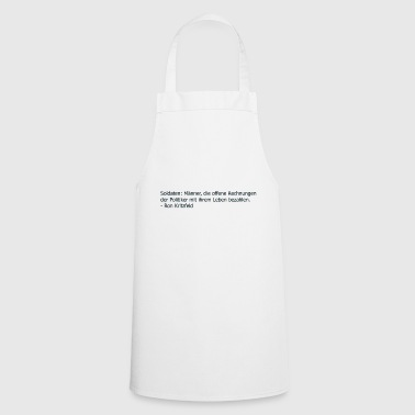 Quote soldiers - Cooking Apron