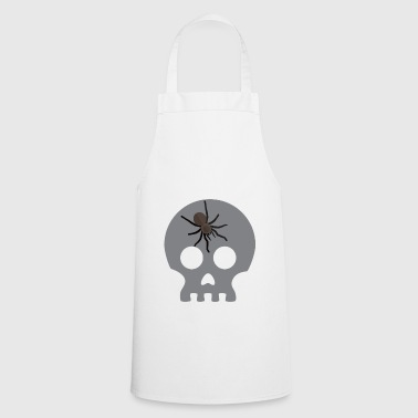 Funny Spider Skull - Scary Creepy Spooky Halloween - Cooking Apron
