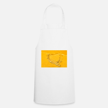 Sand Heart in the sand - Cooking Apron