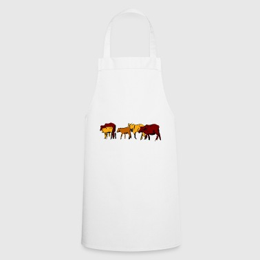 Cows cattle herd farm farm animals gift - Cooking Apron