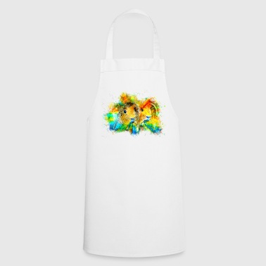 gxp guinea pigs couple water color splashes - Cooking Apron