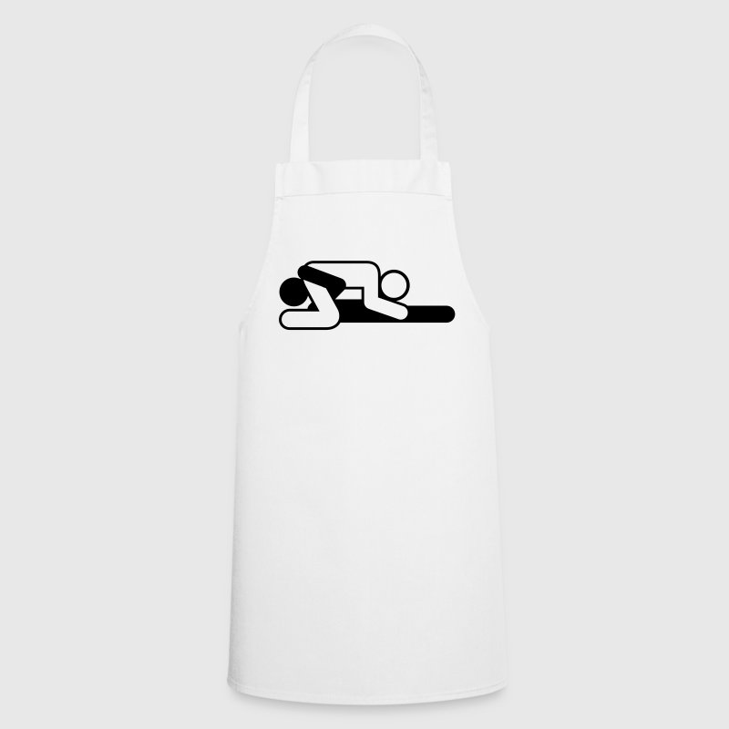 A couple in 69 position - Cooking Apron