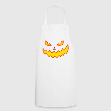 Wicked Creepy Pumpkin Face Jack o linterna - Delantal de cocina