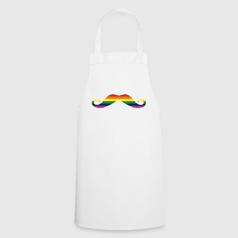 Gay Pride Rainbow flag Moustache - Delantal de cocina