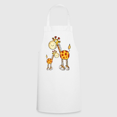 Mum and baby giraffe - Cooking Apron