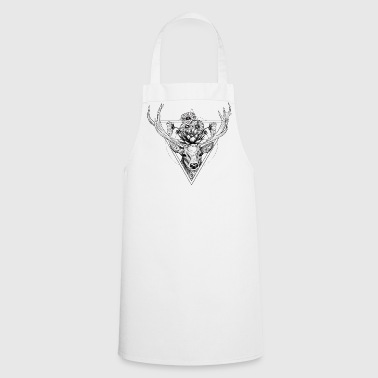 Flower stag black - Cooking Apron