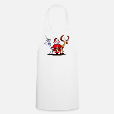 Santa, reindeer, unicorn - Cooking Apron