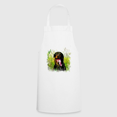 gxp rottweiler dog long tongue vector art - Cooking Apron