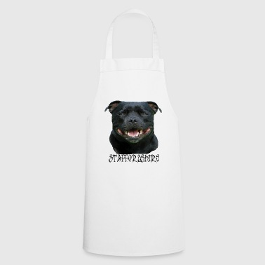 Staffordshire, Terrier, Stafford, dog head, Staffbull - Cooking Apron