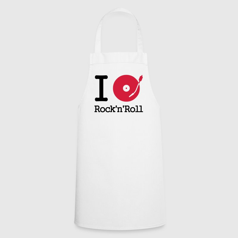I dj / play / listen to rock & roll - Cooking Apron