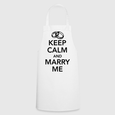 Keep calm and marry me - Keukenschort
