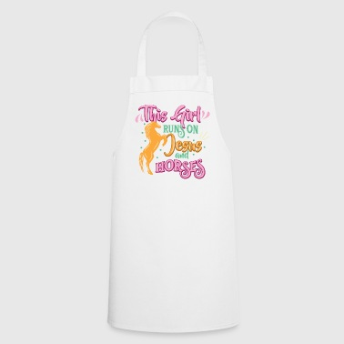 Horse Lover Jesus And Horse Horses - Cooking Apron