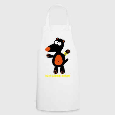 Ich liebe dich Backschürze Maulwurf Love Food Che - Cooking Apron