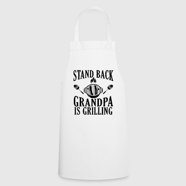 Better go away Grandpa is on barbecue - Cooking Apron