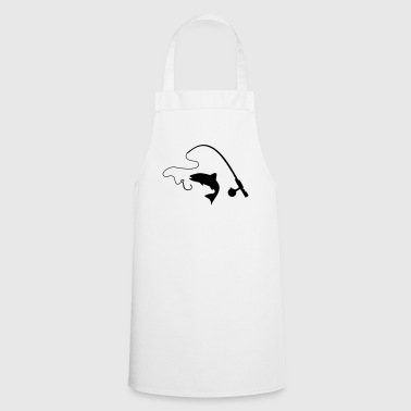 Fishing rod and fish, fishing - Cooking Apron