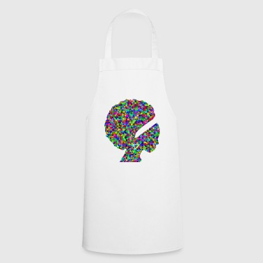 African American Colorful face of an African American woman. - Cooking Apron